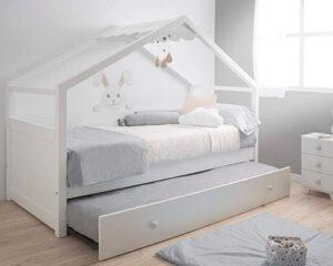 cama nido casita blanca