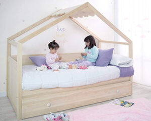 cama nido casita madera