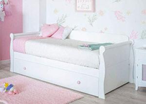 cama nido góndola blanca lacada